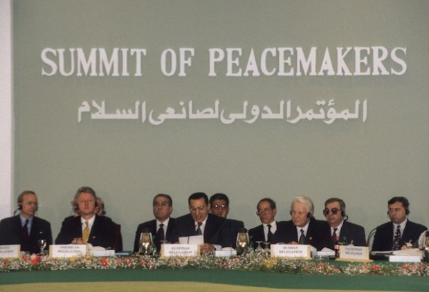 Twenty nine world leaders gather at the Egyptian Red Sea resort of Sharm el Sheikh to attend the Summit of the Peacemakers, March 1996. Ph. Norbert Schiller
