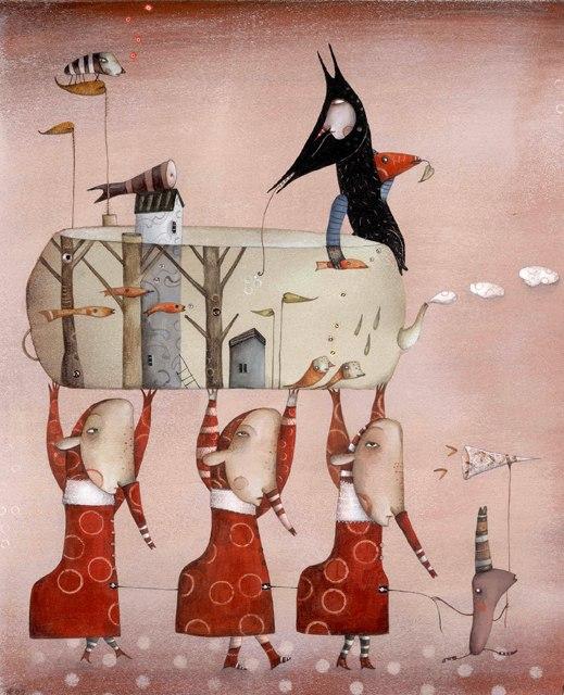 Take the world, illustration by Natalie Pudalov