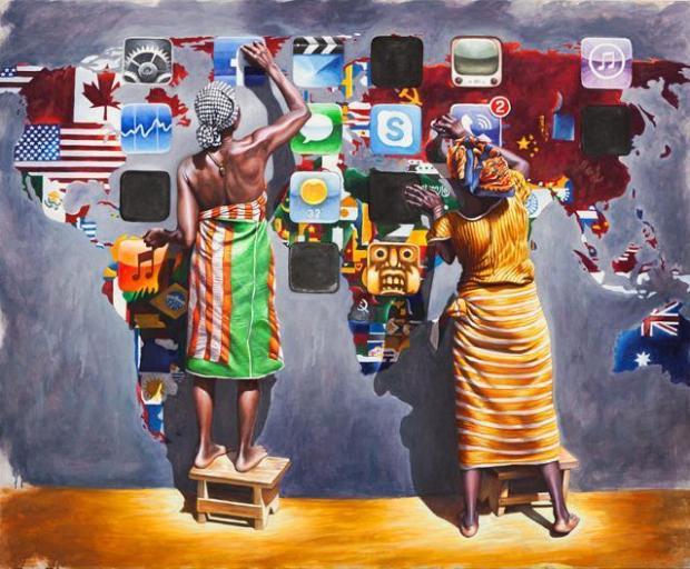 Icone, olio su tela (90x110). Ali Hassoun.