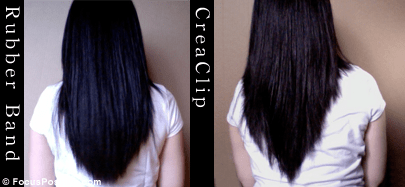 Cutting My Own Hair CreaClip vs the Rubber Band Method