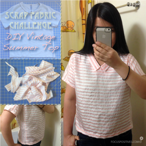 Scrap fabric challenge: DIY vintage summer top