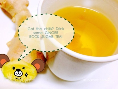 Ginger tea, Ginger rock sugar tea