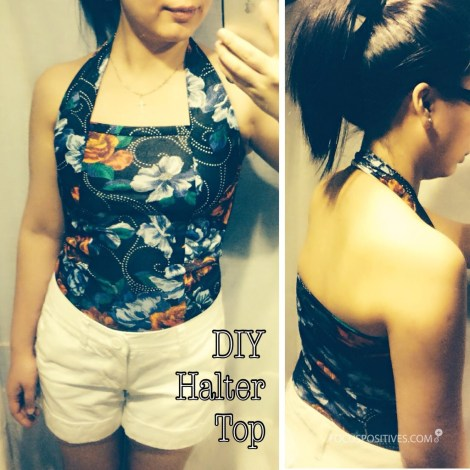Free Pattern: DIY Halter top using vintage floral fabric ( Summer top )