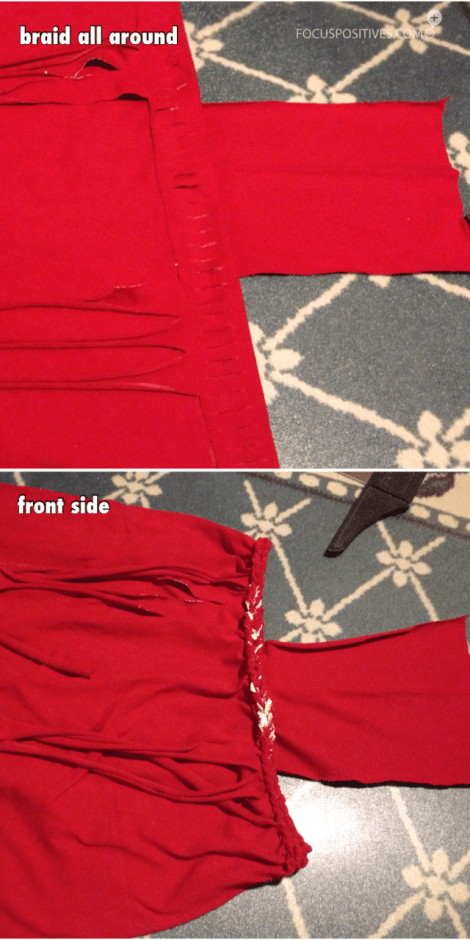 Diy t-shirt suspender skirt (no sew) part3