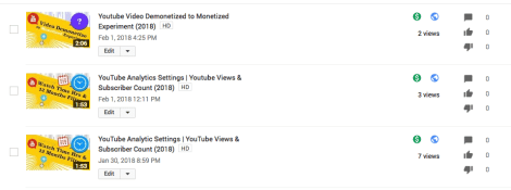 Youtube Video Demonetized to Monetized Experiment (2018)