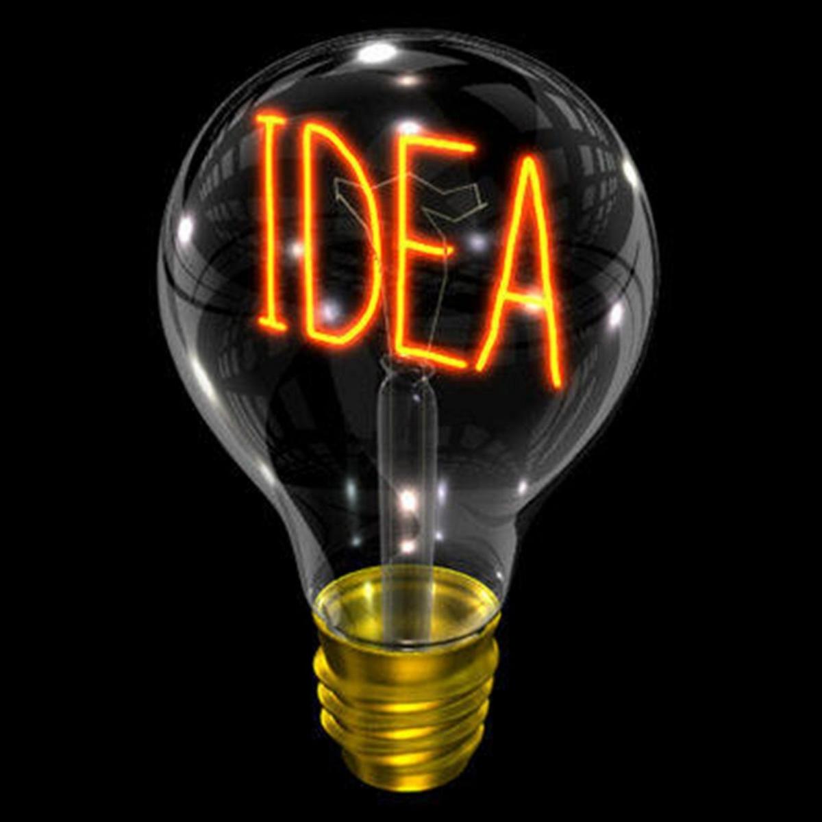 Light bulb idea start-up idea