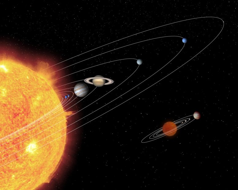 Hypothetical Brown Dwarf Planetary System Compared to Our Solar System