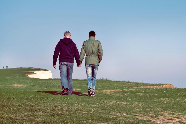 Homosexual Couple Holding Hands