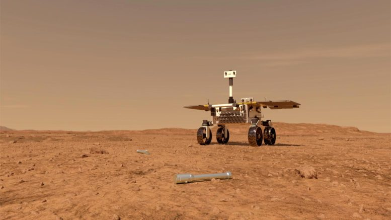 Fetch Rover Approaching Sample Tubes
