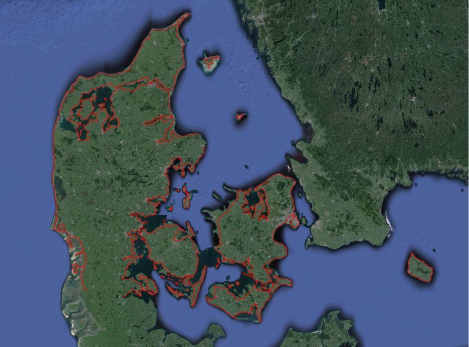 Ruten Danmark rundt