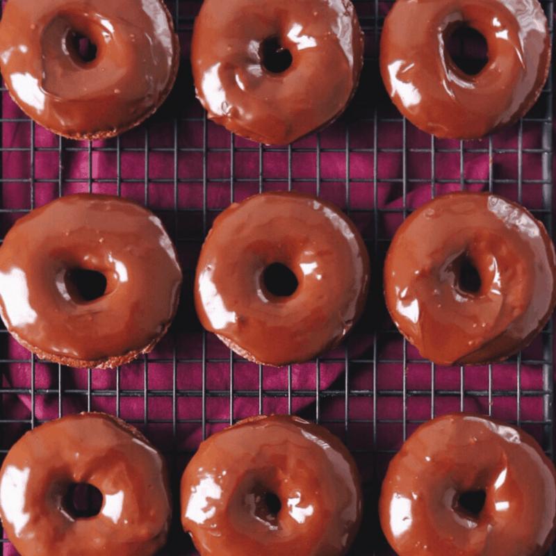 Low FODMAP Chocolate Doughnuts