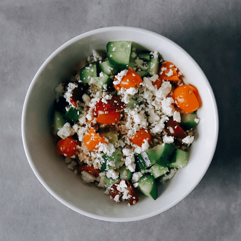 Low FODMAP Quinoa Salad in bowl