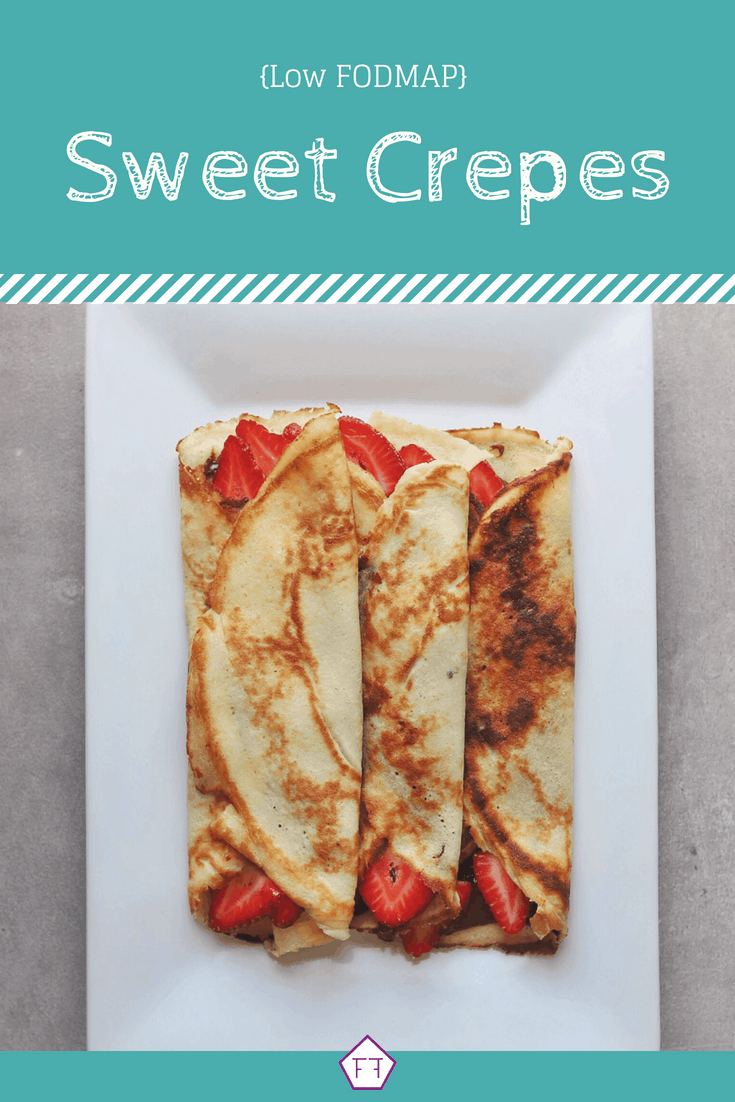 3 Low FODMAP Sweet Crepes on plate