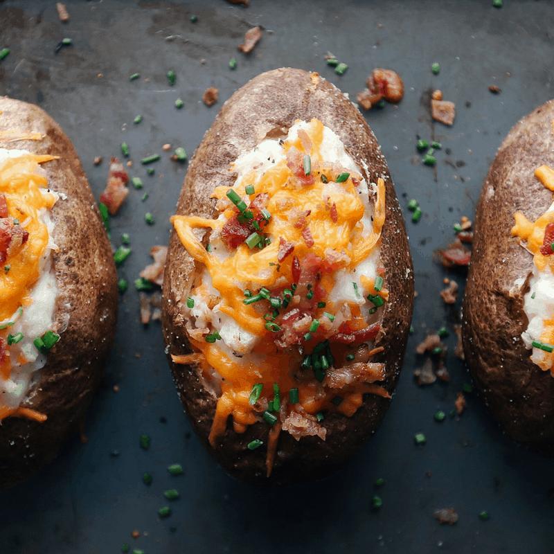 Low FODMAP Twice Baked Potatoes