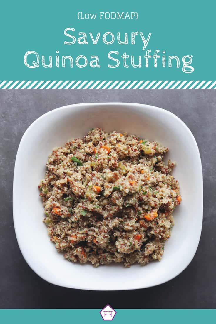 Low FODMAP Quinoa Stuffing