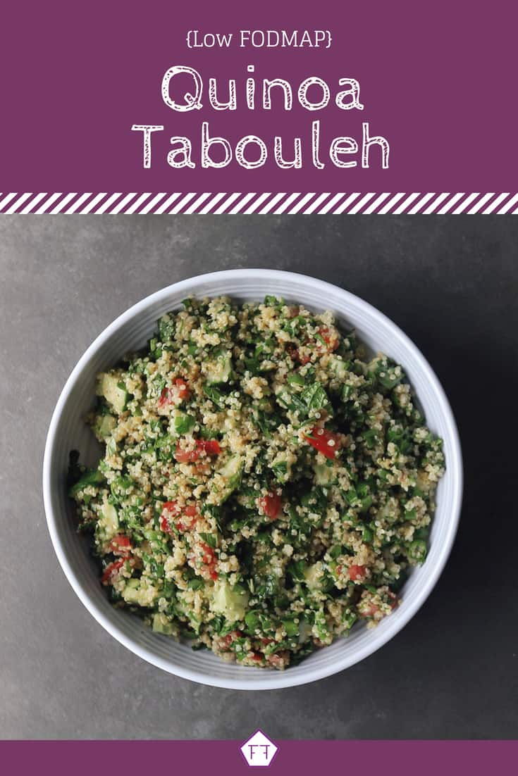 Low FODMAP Quinoa Tabouleh