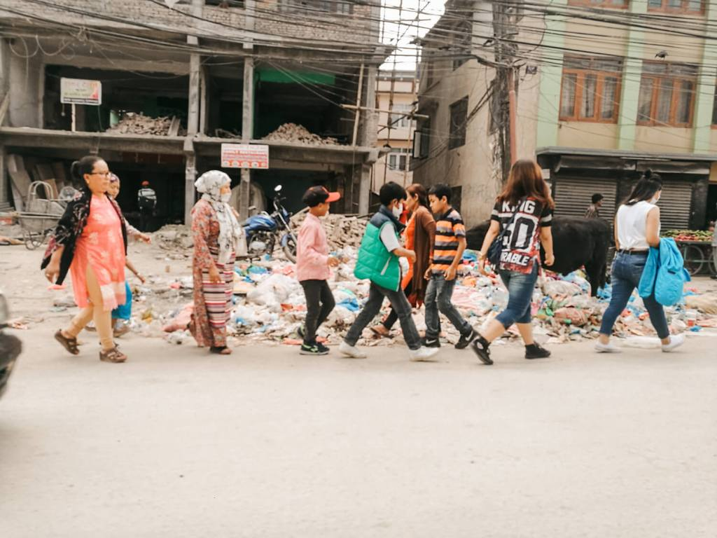 straatbeeld kathmandu