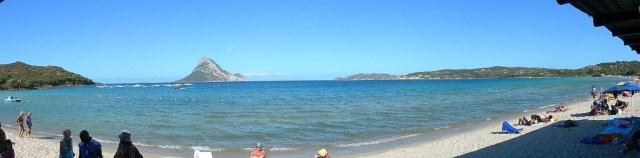 Badebucht Blick auf Isla Tavolara