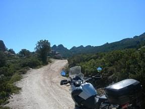 Piste zu einem Aussichtspunkt Monte Limbara