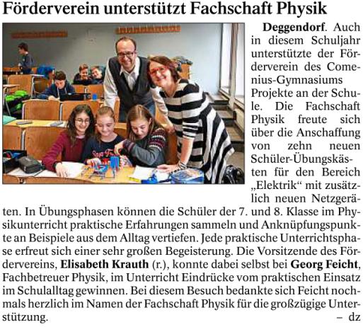 Deggendorfer Zeitung 31.12.2016