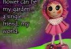 Candy fofucha craft foam doll quote