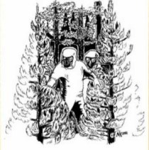 Drawing of Cisco Grove humanoids