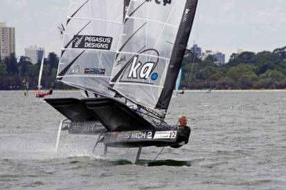"""Andrew """"Amac"""" McDougall. Image by Rick Steuart of Perth Sailing Photography"""