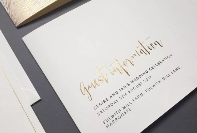 Wedding Guest Information Cards - What to Include  Foil Invite Co