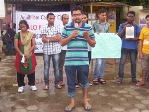 Students rally at Huderabad University