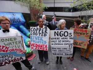 Vedanta AGM protest 2015