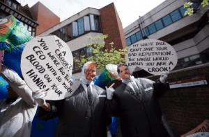 Foil Vedanta AGM 2015 protest