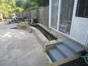 Patio Pond Installation