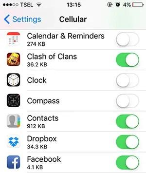 7 Tips Cara Menghemat Paket Data (Kuota Internet) iPhone Kamu