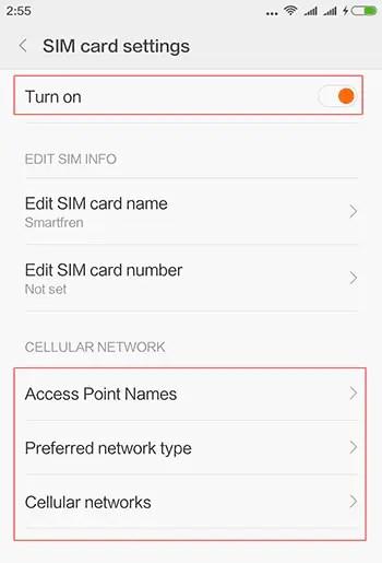 Cara Mengaktifkan 4G LTE Smartfren Pada Xiaomi