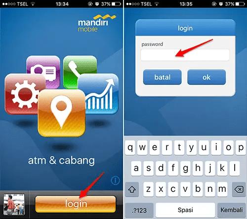 login ke mobile banking mandiri