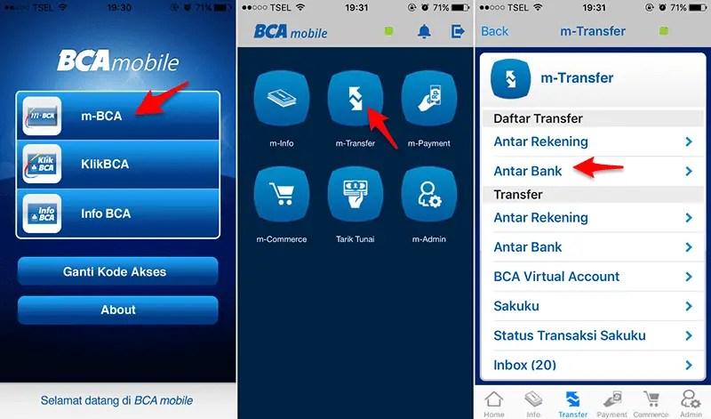Isi Ulang Bolt Via Mobile Banking BCA