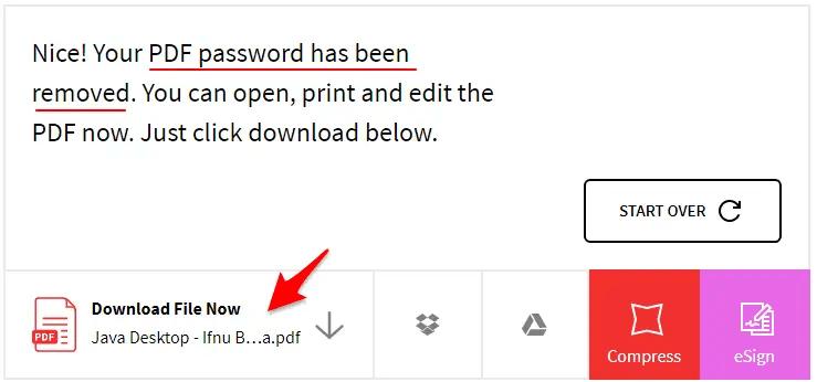 cara membuka password pdf
