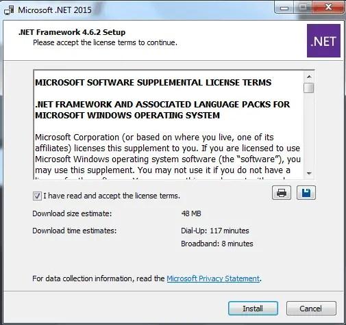 cara install net framework server emby