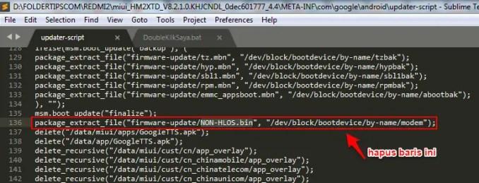 cara update script recovery rom redmi 2