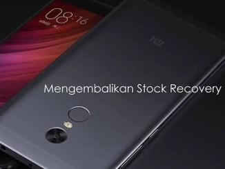 Cara Mengembalikan Stock Recovery Bawaan (Original) Xiaomi