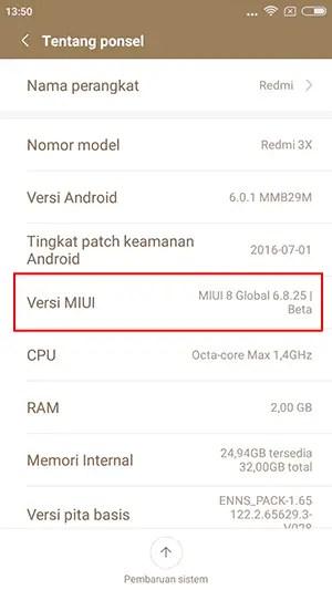 ROM redmi 3S/Prime/3X