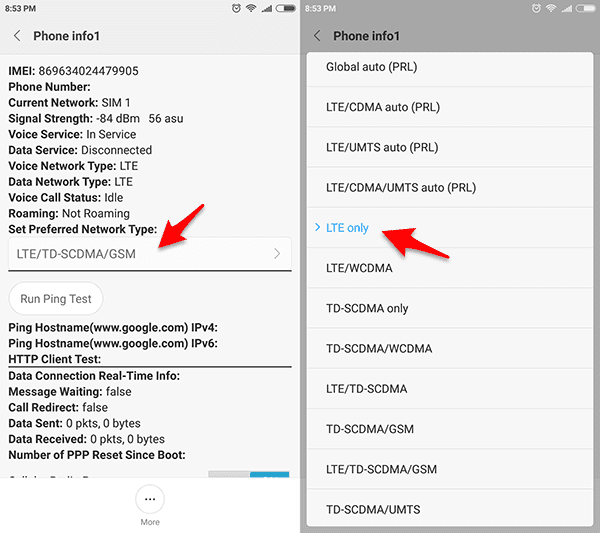 Cara Mengunci (Lock) Jaringan 4G / LTE Xiaomi Tanpa Root Aplikasi
