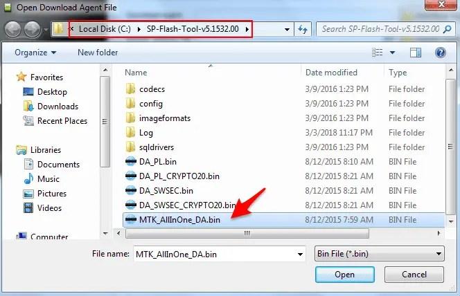 sp flash tool stuck at download da 100