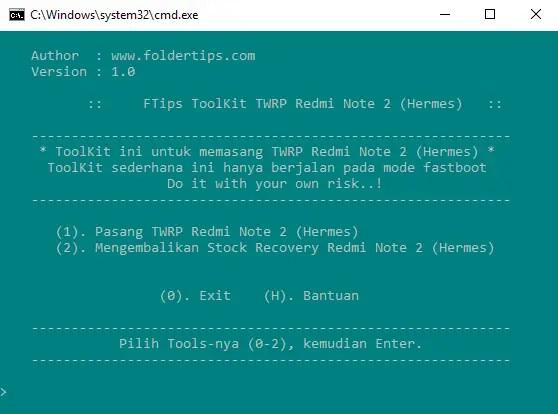 Cara Pasang / Install TWRP dan ROOT Redmi Note 2/Prime (Hermes)