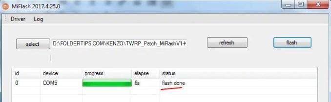 Cara Pasang TWRP Non UBL Redmi Note 3 Tanpa Flashing ROM (Kenzo)