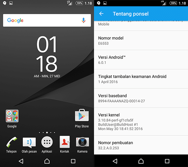 Cara Ganti ROM Sony Xperia Z3+ / Z4 Docomo ke ROM Global via Flashtool