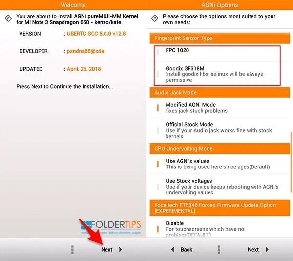 Cara Pasang AGNi Kernel Redmi Note 3 Pro (Kenzo), Suara Jernih, DT2W dan Fast Charging