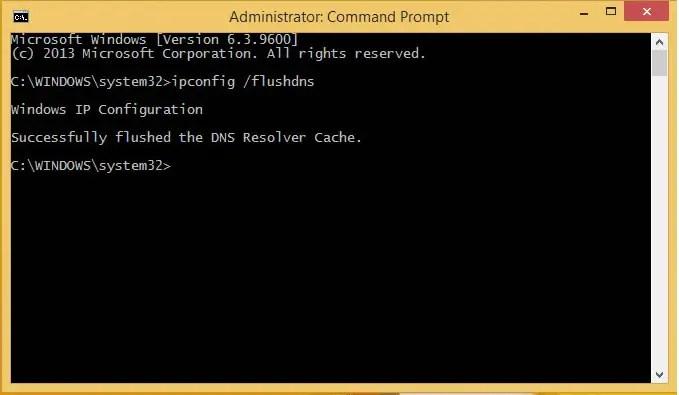 Cara Flush DNS di Windows 8