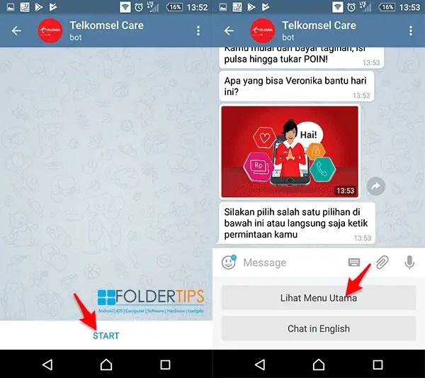 Mengetahui PUK Telkomsel melalui Telegram