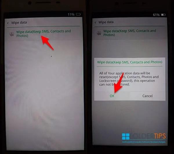 Cara Hard Reset HP Oppo Melalui ColorOS Recovery